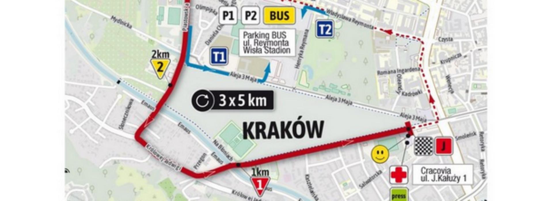 Utrudnienia w ruchu na terenie Krakowa w trakcie 78. Tour de Pologne